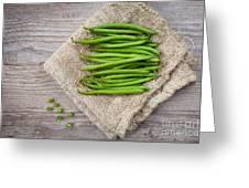 Green Beans Greeting Card by Sabino Parente