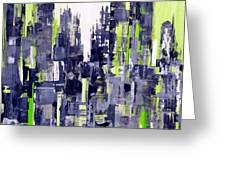Green City Greeting Card
