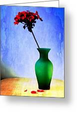 Green Vase Greeting Card by Donald Davis