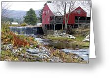 Gristmill Weston Vermont Greeting Card