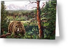 Grizzley Greeting Card by W  Scott Fenton