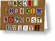 Grunge Alphabet Greeting Card