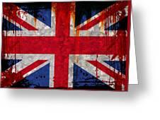 Grunge Union Flag Greeting Card