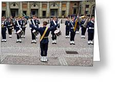 Guards Changing Shifts. Kungliga Slottet.gamla Stan. Stockholm 2 Greeting Card