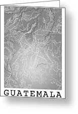 Guatemala Street Map - Guatemala City Guatemala Road Map Art On  Greeting Card