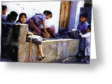 Guatemalan Children Gathered Greeting Card