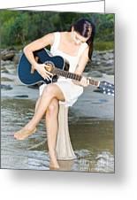 Guitar Woman Greeting Card