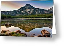 Gunsight Mountain Reflection Greeting Card by Robert Bales
