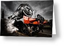 Gwr Steam Train Greeting Card