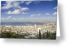 Haifa Bay Panorama Greeting Card