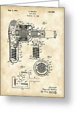 Hair Dryer Patent 1929 - Vintage Greeting Card