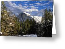 Half Dome In Winter Greeting Card
