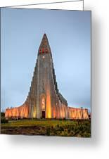 Hallgrimskirkja Church Greeting Card