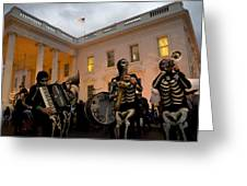 Halloween At The White House Greeting Card