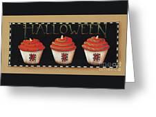 Halloween Cupcakes Greeting Card