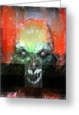 Halloween Mask Greeting Card