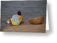Hampi River Scenes Greeting Card