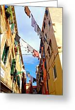 Hanging In Venice Greeting Card