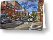 Hanover St. Greeting Card by Joann Vitali