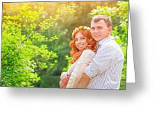 Happy Loving Couple Greeting Card