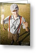 Happy The Golf Man Greeting Card