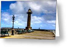 Harbour Light Whitby Greeting Card