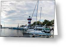 Harbourtown Harbor Greeting Card