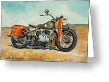 Harley Davidson Wla 1942 Greeting Card