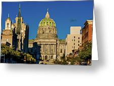 Harrisburg, Pennsylvania, City Skyline Greeting Card
