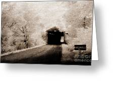 Harshaville Covered Bridge 35-01-02 Greeting Card
