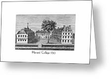 Harvard College - 1720 Greeting Card