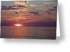 Harvest Sunset Greeting Card