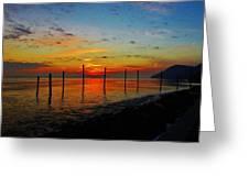 Haverstraw Bay Sunrise Greeting Card