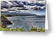 Hawaii Big Island Coastline V2 Greeting Card