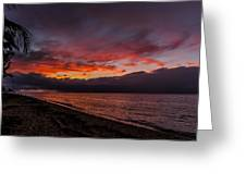 Hawaii Sunset Greeting Card