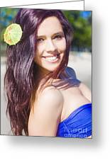Hawaiian Girl In Hawaii Greeting Card
