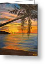 Hawaiian Sunset 11 Greeting Card