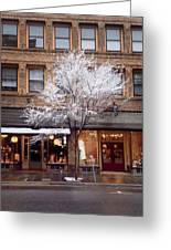 Haywood St.  Greeting Card by Mark Block