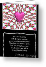 Heart And Love Design 16 With Bible Quote Greeting Card