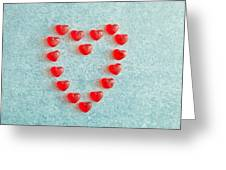 Heart Shape Greeting Card by Tom Gowanlock