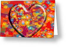 Hearts And Flowers Greeting Card