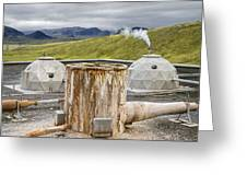 Hellisheidi Power Station Well Greeting Card