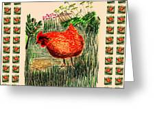hen Greeting Card