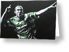 Henrik Larsson - Celtic Fc Greeting Card