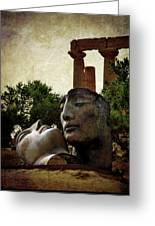 'hermanos' In The Valley Of The Temples Greeting Card