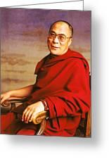 H.h. Dalai Lama Greeting Card by Jan W Faul