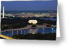 High Angle View Of A City, Washington Greeting Card