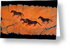 High Desert Horses Greeting Card