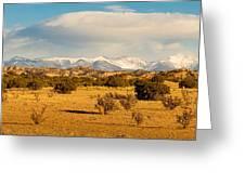High Desert Plains Landscape Greeting Card