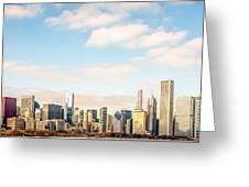High Resolution Large Photo Of Chicago Skyline Greeting Card